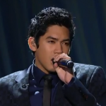 """Filipino-American Jason Farol while singing """"Feeling Good"""" in the July 5 episode of Duets (photo by ABC)"""