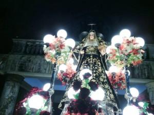 An image of Saint Rita de Cascia during Sta. Rita, Pampanga's fiesta recently (photo from https://www.facebook.com/roseofsaintrita)