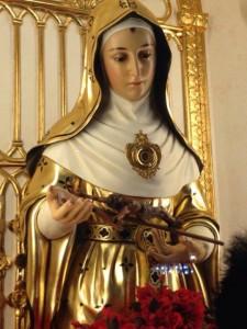 Saint Rita de Cascia, the patronness of the fourth-class town of Sta. Rita in Pampanga (photo from https://www.facebook.com/roseofsaintrita)