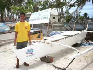 The WIMLER Partnerships for Social Progress supported some 20 fishermen from Bantayan, Cebu affected by typhoon Yolanda by giving them new fishing boats. (photo by WIMLER)