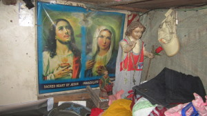 The home of Tet Garcia of San Fernando City, Pampanga has a special place for Jesus, Mary and the Sto. Nino (photo by JHOANA PAULA TUAZON / The Filipino Connection)