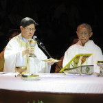 Manila Archbishop Luis Antonio Cardinal Tagle leads the celebratiion of the opening mass of the 2015 Second Philippine Conference on the New Evangelization held at UST (photo by JHOANA PAULA TUAZON / The Filipino Connection)