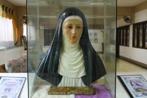 A bust of Servant of God Francisca Fuentes, O.P. (photo by MIA ROSIENNA MALLARI / The Filipino Connection)