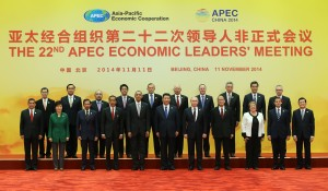 APEC leaders during the 2014 APEC Summit (photo posted at the APEC website by Xinhua)