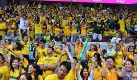 The sea of yellow  that has been swarming this year's UAAP men's basketball title series has been witnessing uncertainty brought about by the thrill of winning the Philippines' most-coveted collegiate championship (photo take from the Facebook page of Far Eastern University)
