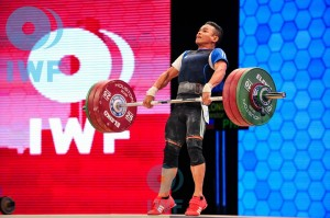Nestor Colonia won the Philippines' other medal, a bronze in the men's 56 kg. clean and jerk competition lift,  at the 2015 World Weightlifting Championships. Like Hidilyn Diaz, Colonia is ranked fourth in the world. Improved lifts can also make Colonia a legitimate Filipino Olympic medal prospect for Rio 2016 (photo from the International Weightlifting Federation)
