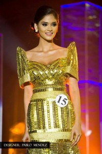 Wurtzbach when she was first runner-up at the 2013 Bb. Pilipinas pageant (photo from Bb. Pilipinas Charities)