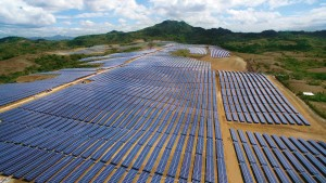 The solar farm in Calatagan, Batangas that Solar Philippines put upo is the country's largest to date (photo from Solar Philippines' Facebook page)