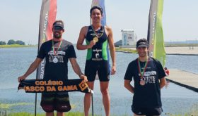 Nikko Huelgas wins the gold in the senior elite category of the VI Triatlo Montemor that is a stage in the ongoing Portugal Cup Triathlon Series. (photo from Nikko Huelgas' Facebook account)