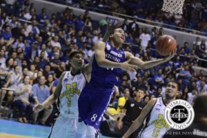 Aaron Black towed the new-look Blue Eagles to their first win in the new UAAP season. The league finished five years in which old stars made the league a hit. Newer stars are wanted. (photo by Tiebreaker Times)