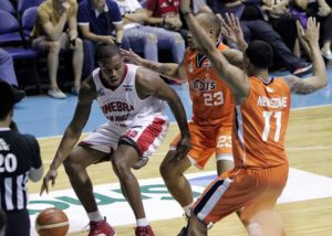 Justin Brownlee helped make a nation of Ginebra fans scream with a memorable buzzer-beating triple that ended an eight-year title drought for Barangay Ginebra San Miguel in the PBA. (photo by Keith LeBron Jacob for the PBA, through the PBA's Facebook account)