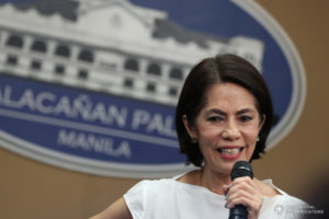 Philippines' Environment Secretary Regina Lopez is in hot water from the mining industry given her closure orders to 23 mining companies and suspension orders to five others, all announced early February (photo from King Rodriguez of the Presidential Communications Office, Republic of the Philippines)