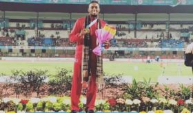 Twenty nine-year-old Filipino-American hurdler Eric Shauwn Cray won the country's first Asian Athletics Championships gold medal in eight years following his 400m hurdles golden conquest in Bhubaneswar, India (phto from the Asian Athletics Association).