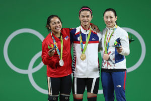 The 2016 medalists in the women's 53 kg. class in weightlifting, including Filipina Hidilyn Diaz, will rekindle their rivalries at this year's 2017 World Weightlifting Championships in Anaheim, California, USA (photo from www.olympic.org).