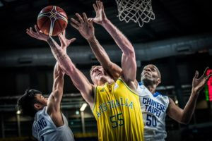 Adelaide 36er Mitch Creek led the Australians in their romp of Chinese-Taipei to start off the FIBA World Cup qualifiers. The Boomers, led by Creek, are expected to easily make it to the 32-squad FIBA World Cup in China. (photo by FIBA.com)